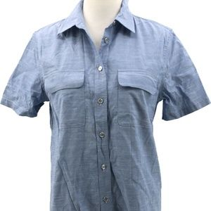 Equipment Femme Button Down Top Womens Medium Blue